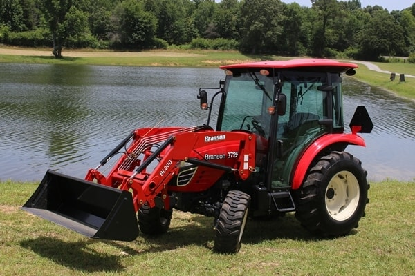Branson Tractors With Loader and Backhoe Attachments