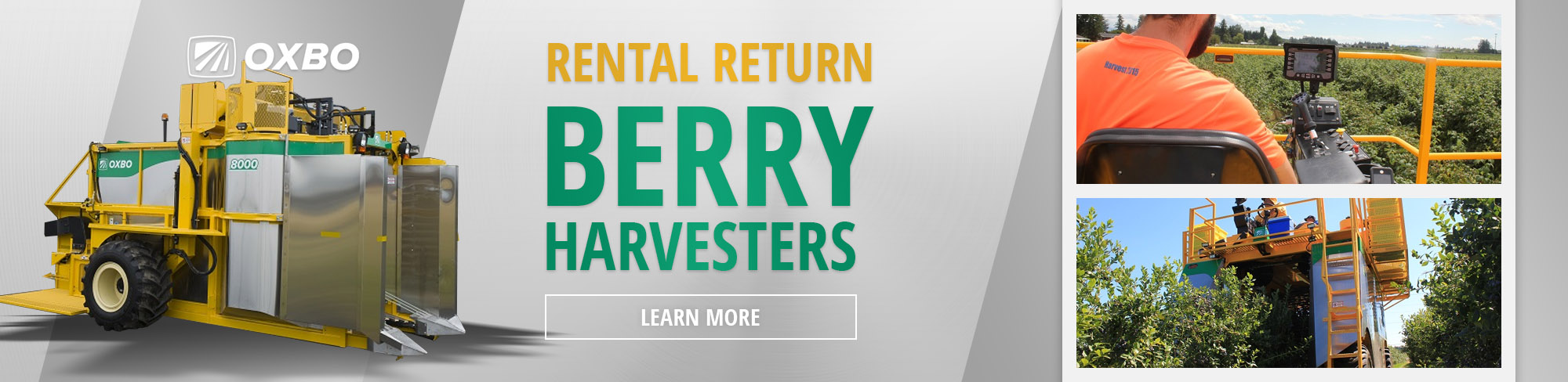 Oxbo Berry Harvester Sale at Farmers Equipment Company.