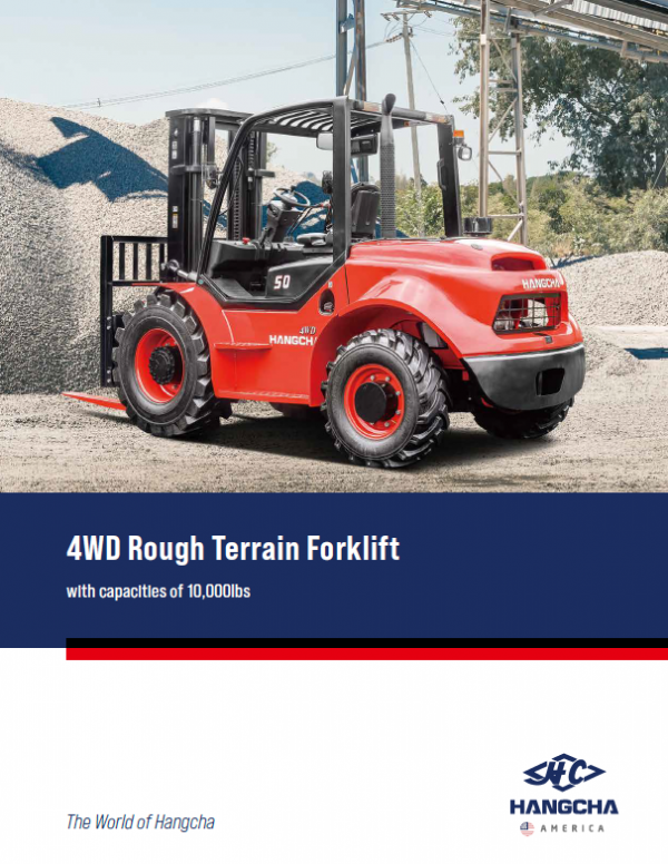 4WD Rough Terrain Forklift 10000lbs